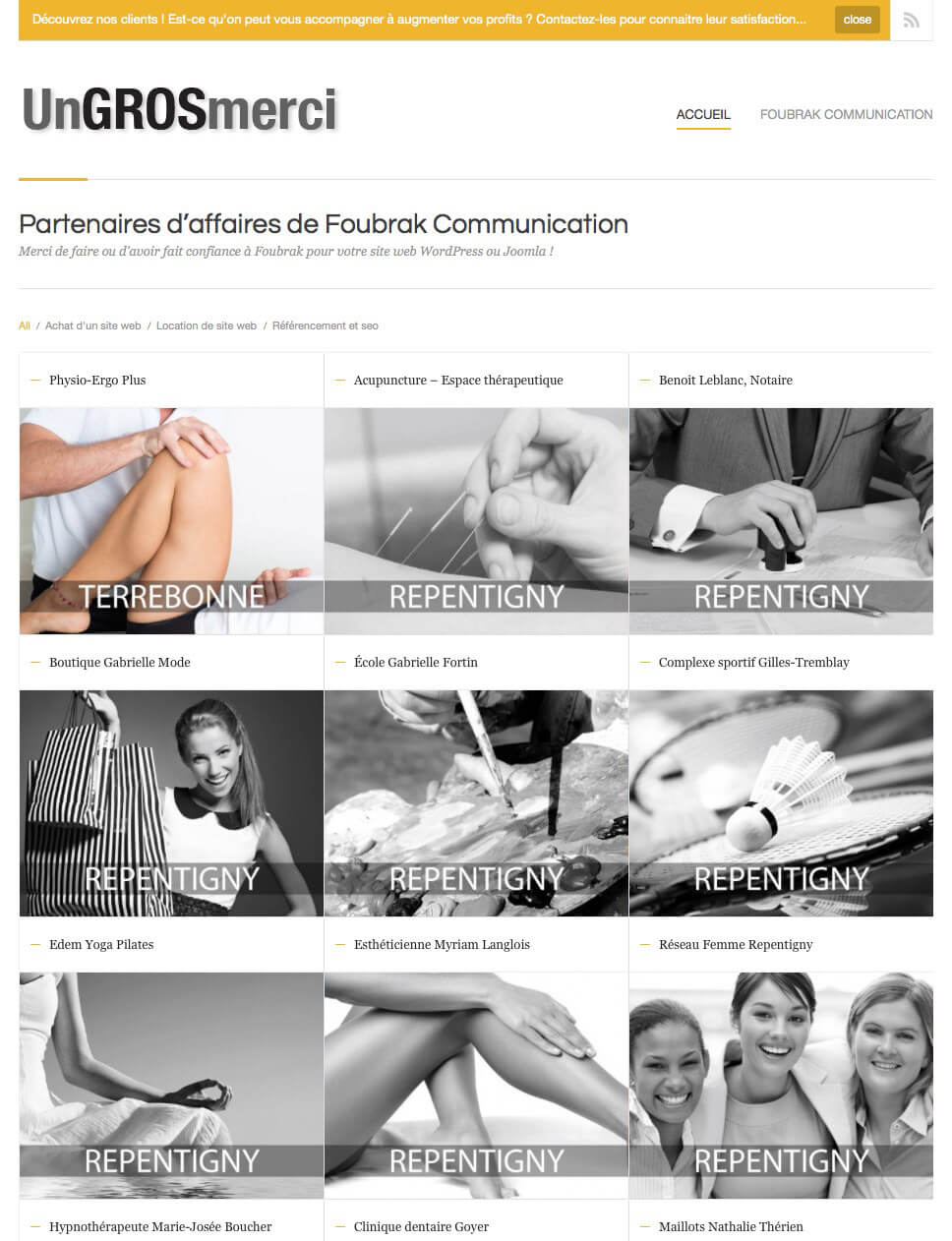 Clients de Foubrak - site web