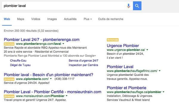 Adwords Google au Québec