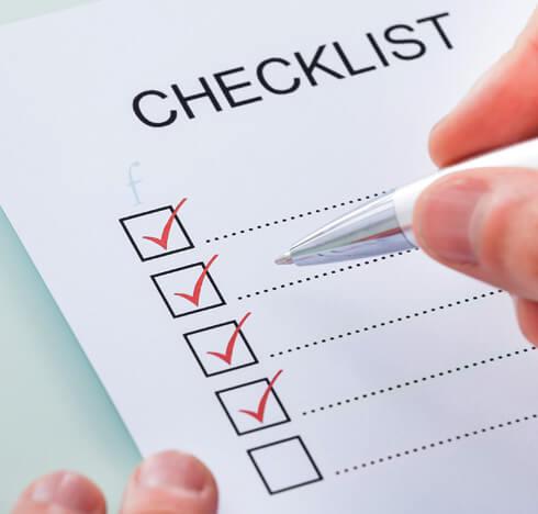 checklist par courriel
